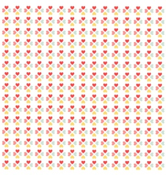 Seamless hearts pattern wallpaper vector image vector image