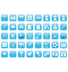 set of education icons vector image vector image