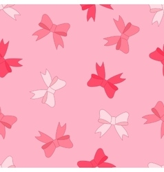 stock seamless pattern of pink bow vector image vector image