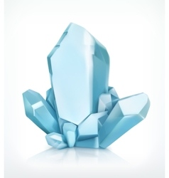 Blue crystal icon vector image vector image