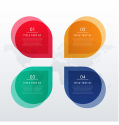 four options infographic design in chat bubble vector image vector image