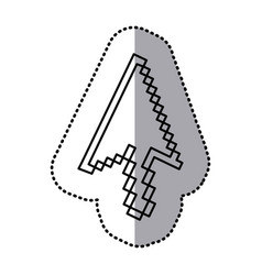 monochrome contour sticker of arrow pointer vector image vector image