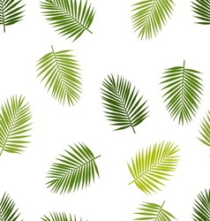 Palm leaf silhouettes seamless pattern Tropical vector image