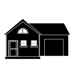house modern style with garage pictogram vector image