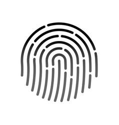 id application icon fingerprint vector image vector image