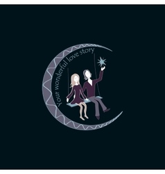 Love story Logo Symbol vector image vector image