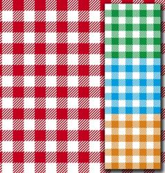 Retro tablecloth texture vector image