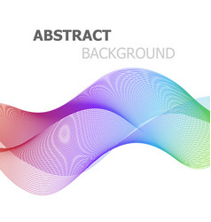 abstract colorful line wave background vector image