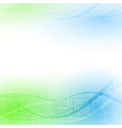 Abstract green blue particle wind vector