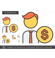 Accountant line icon vector