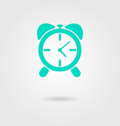 alarm clock icon with shadow vector image