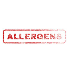 Allergens rubber stamp vector