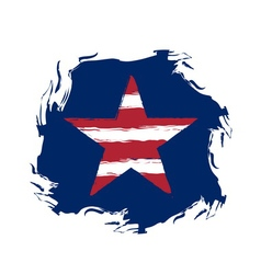 American flag star grunge element symbol vector