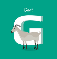 animal alphabet concept in flat design vector image