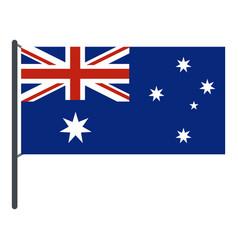 australian flag icon isolated vector image