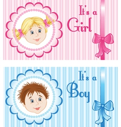 Baby Announcement Cards vector image