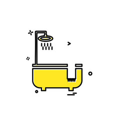 bathtub icon design vector image