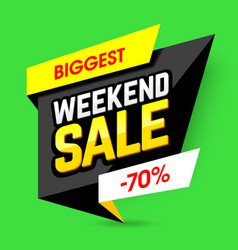 biggest weekend sale poster vector image