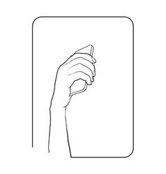 Border smartphone in hand 8 vector