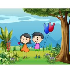 Boy Girl Couple vector image