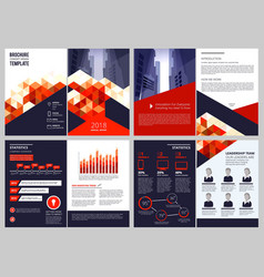 business brochure template annual report vector image