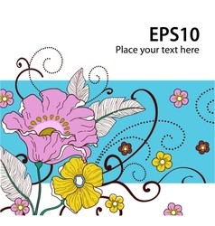 Card with flowers 2 vector