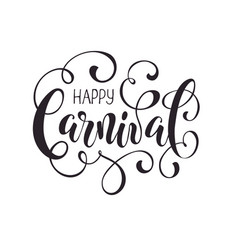 carnival lettering isolated vector image