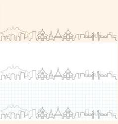 Chiang mai hand drawn skyline vector