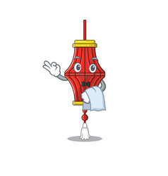 Chinese paper lanterns character on a stylized vector