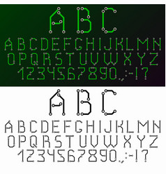 Circuit board font vector