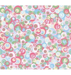 colorful circles pattern vector image