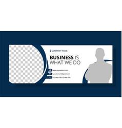 corporate facebook cover template design vector image