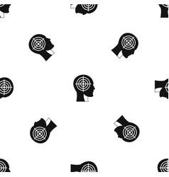 crosshair in human head pattern seamless black vector image