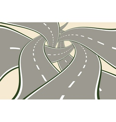 Crossing Tangled Roads vector