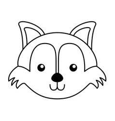Cute fox face cartoon vector