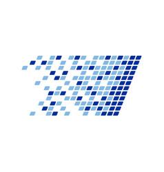 Digital data platform fragments design vector