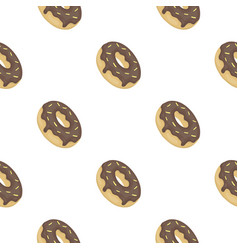 donut icon in cartoon style isolated on white vector image