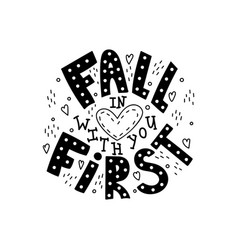 fall in love with you first vector image
