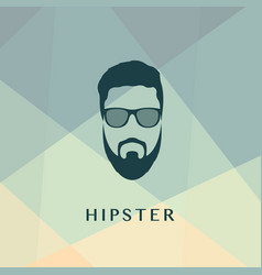 fashion green silhouette hipster style vector image