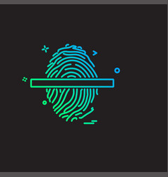 fingerprint icon design vector image