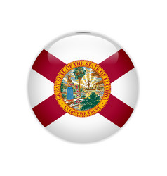 Flag florida button vector
