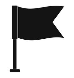 Flag icon simple style vector