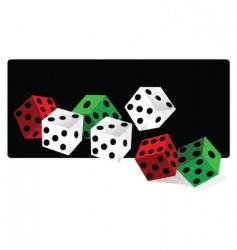 gamble dice vector image