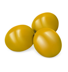 green olives icon realistic style vector image