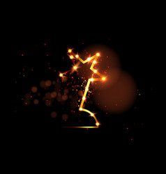 Hollywood movie party gold stars award statue vector