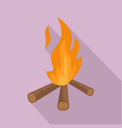 hunting fire icon flat style vector image