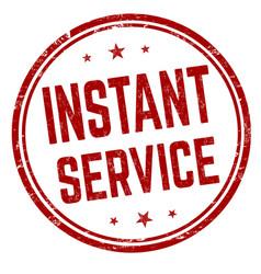 Instant service grunge rubber stamp vector