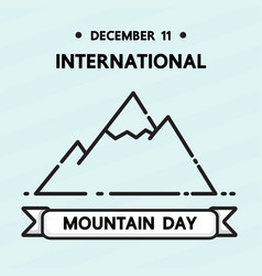 International mountain day vector