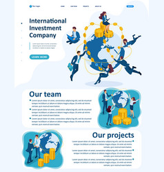 isometric international investment company vector image