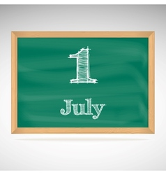 July 1 day calendar school board date vector
